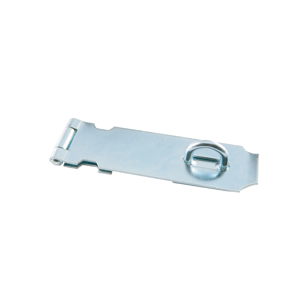 Light Weight Safety Hasp with Fixed Staple