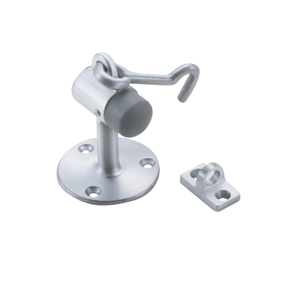 Aluminum Floor Mount Door Stop and Holder