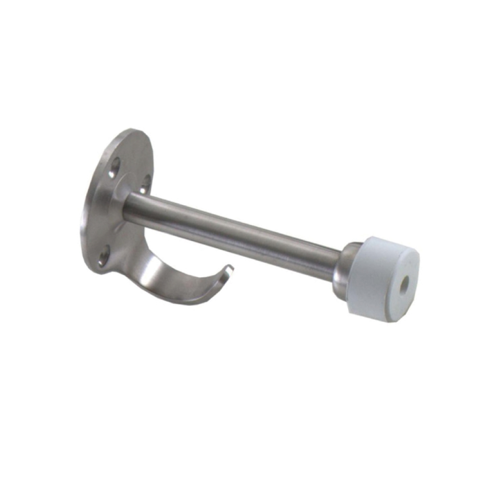 Stainless Steel Wall Mount Door Stop with Hook